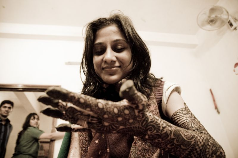 The Bride with Henna